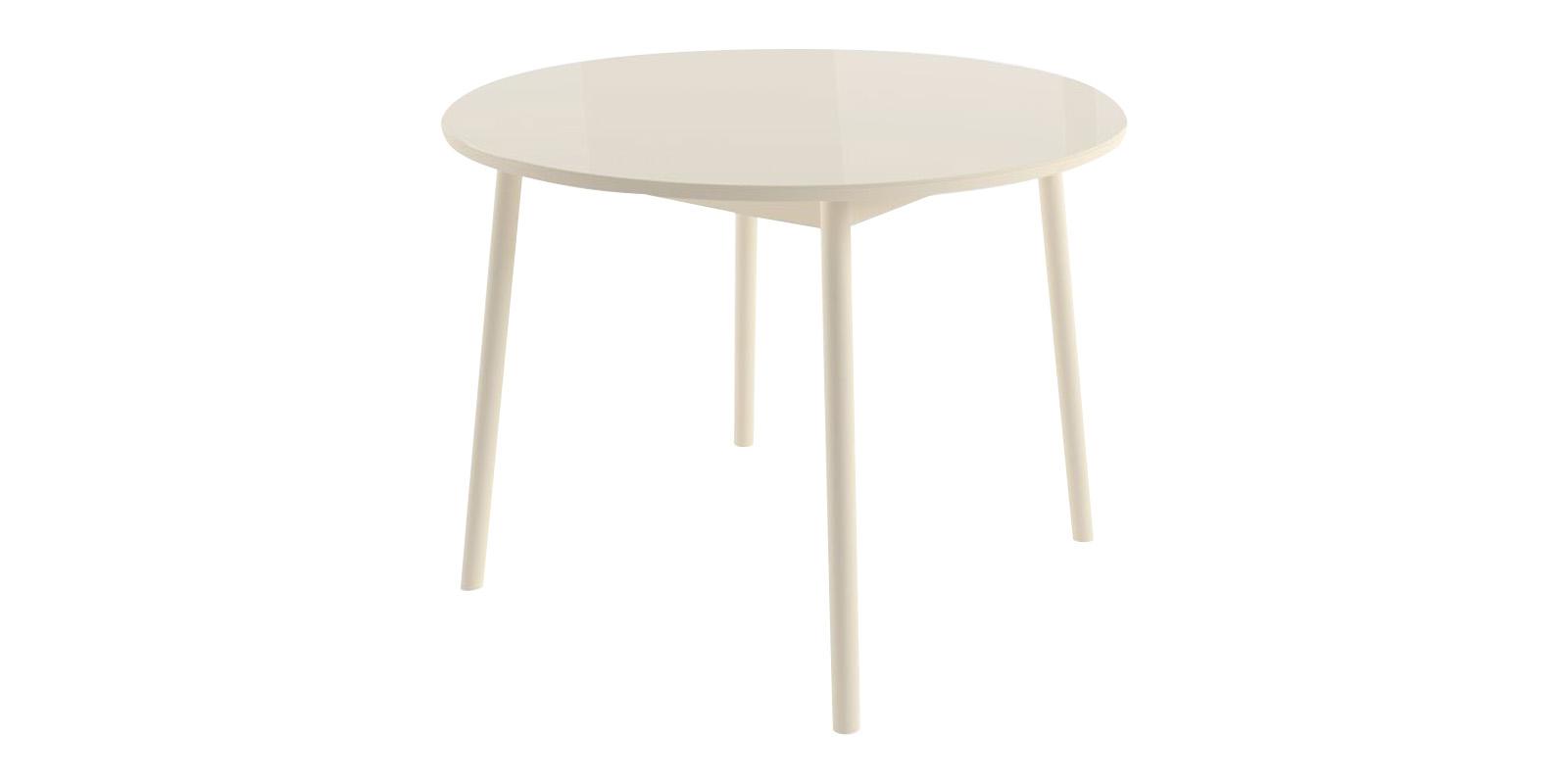 Обеденный стол Раунд (кремовый) круглый