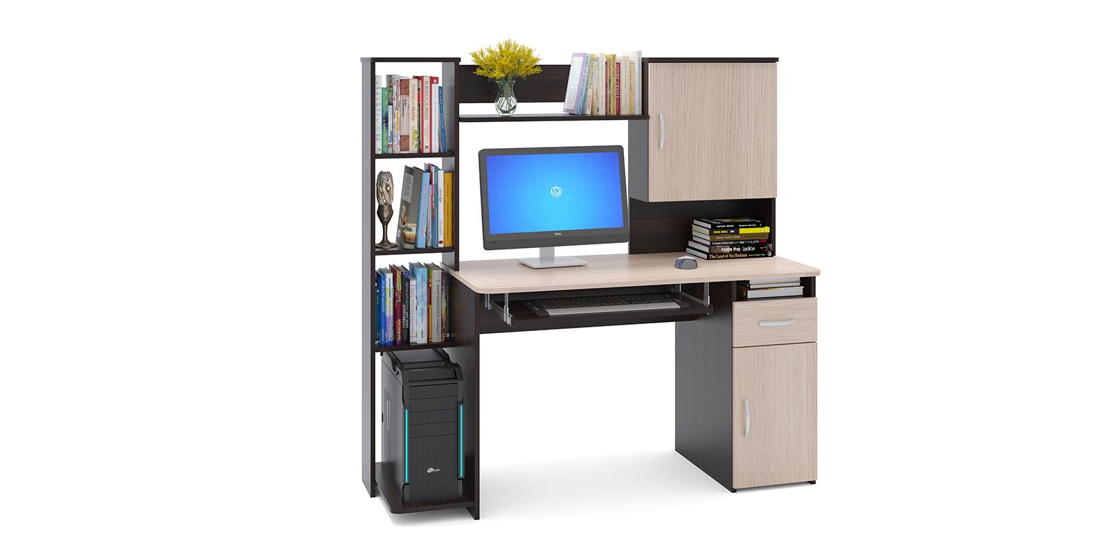 Стол компьютерный Поларис (венге/беленый дуб)
