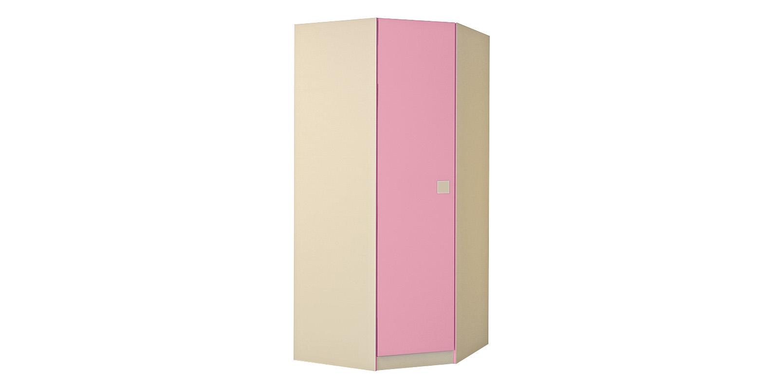 Шкаф распашной угловой Нова (бежевый/розовый)