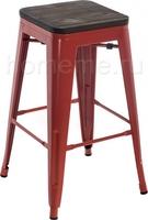 Tolix Bar wood CColl T-2103B-26 red / brown walnut 351639