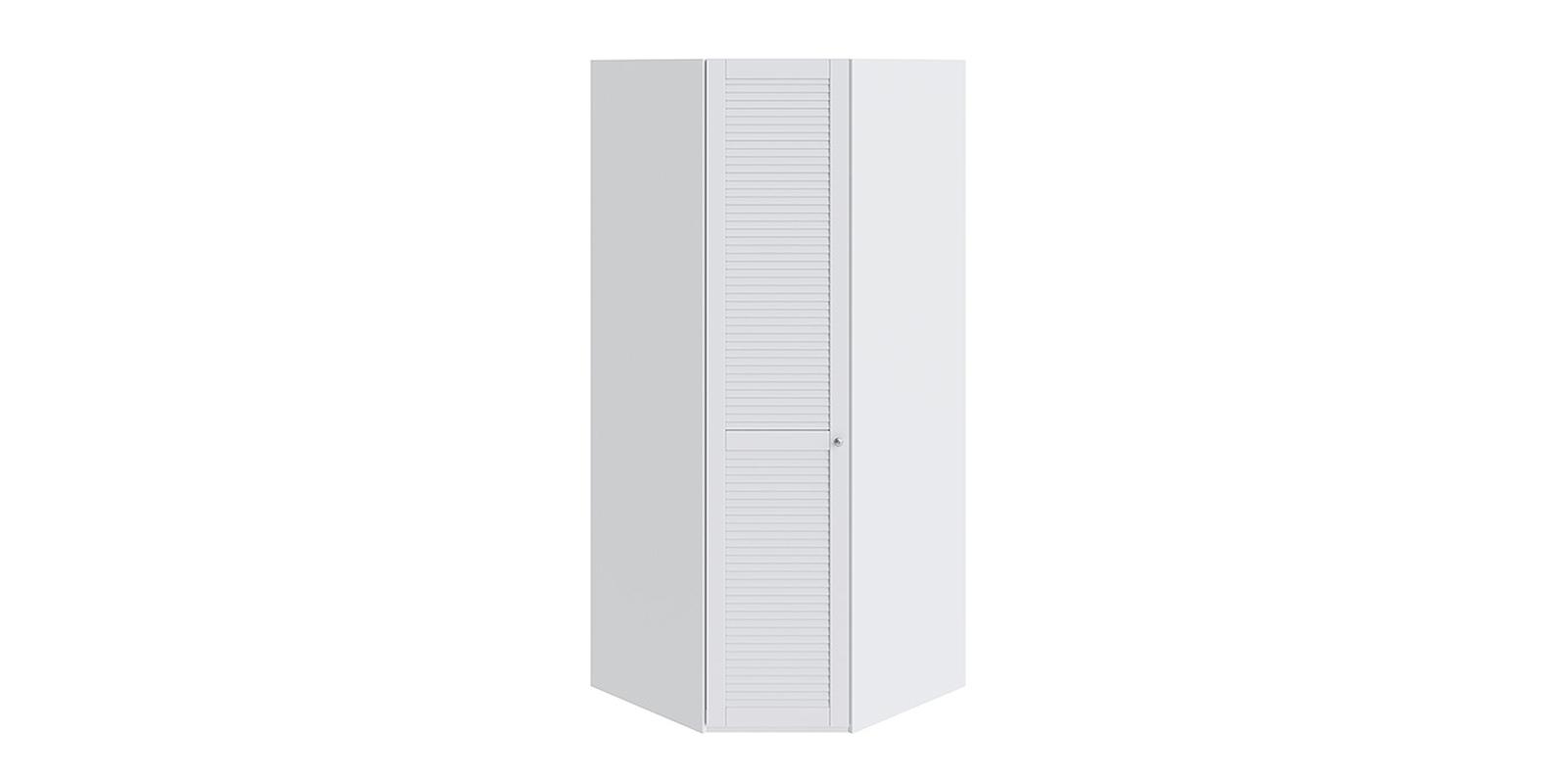 Шкаф распашной угловой Мерида вариант №1 левый (белый)