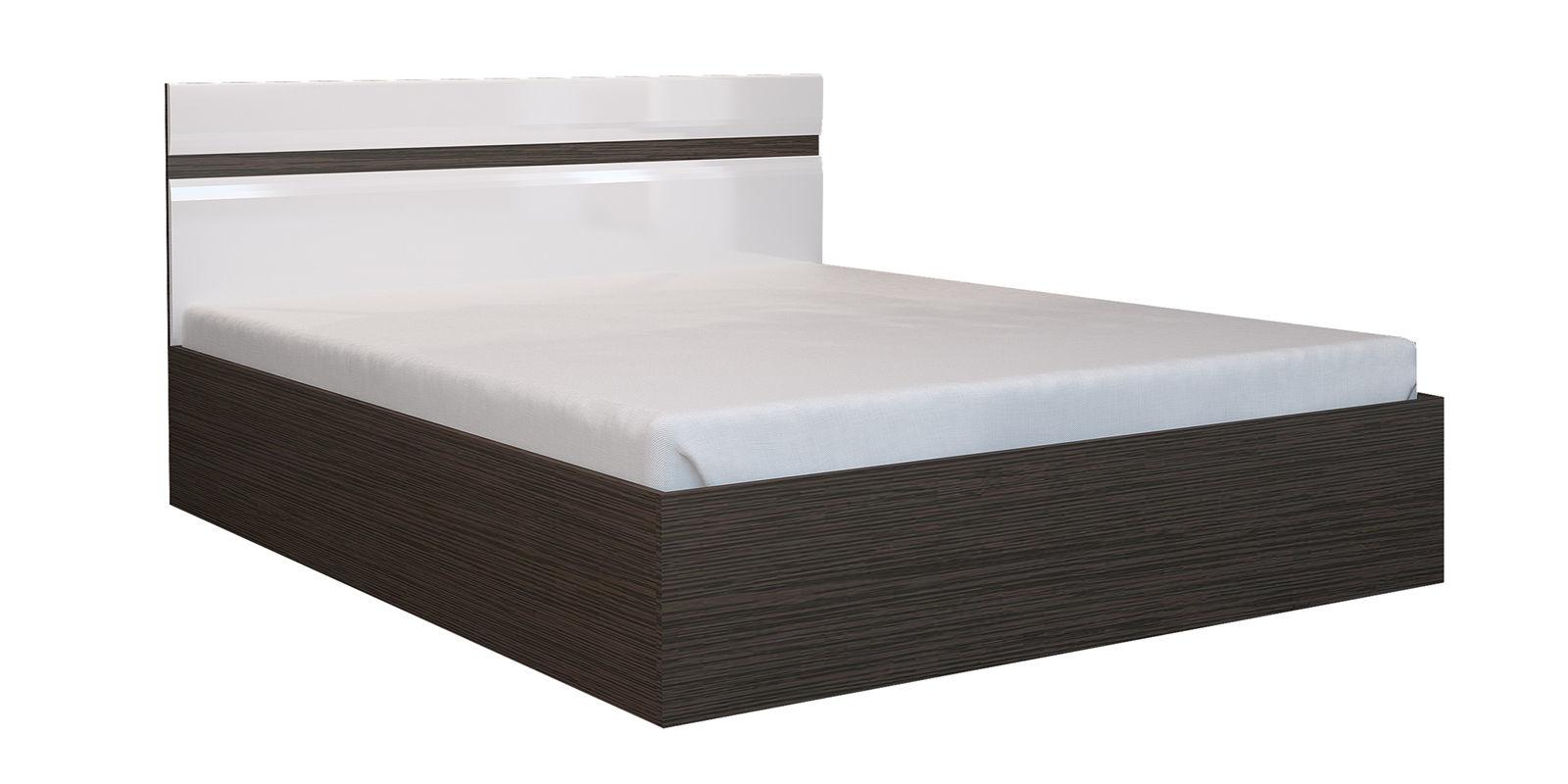 Кровать каркасная 200х140 Римини без подъемного механизма (венге/белый глянец) от HomeMe.ru