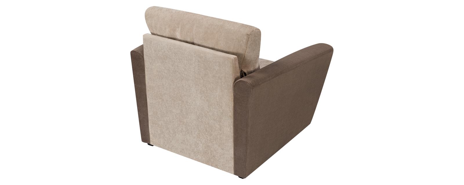 Кресло тканевое Амстердам Dana бежевый/коричневый (Вельвет)