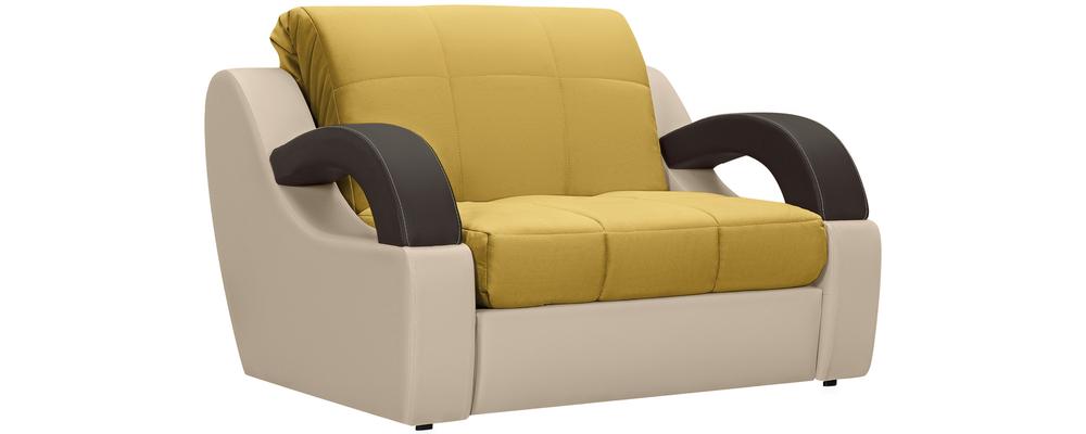 Кресло тканевое Мадрид Velure оливковый (Велюр + Экокожа)