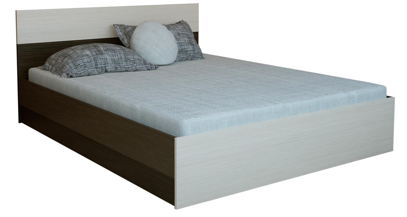 Кровать каркасная 200х140 Медея без подъемного механизма (венге/дуб белфорт) от HomeMe.ru