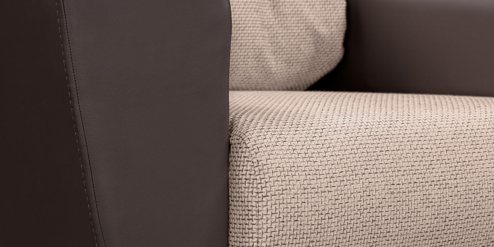 Кресло тканевое Амстердам Sola бежевый (Рогожка + Экокожа) от HomeMe.ru