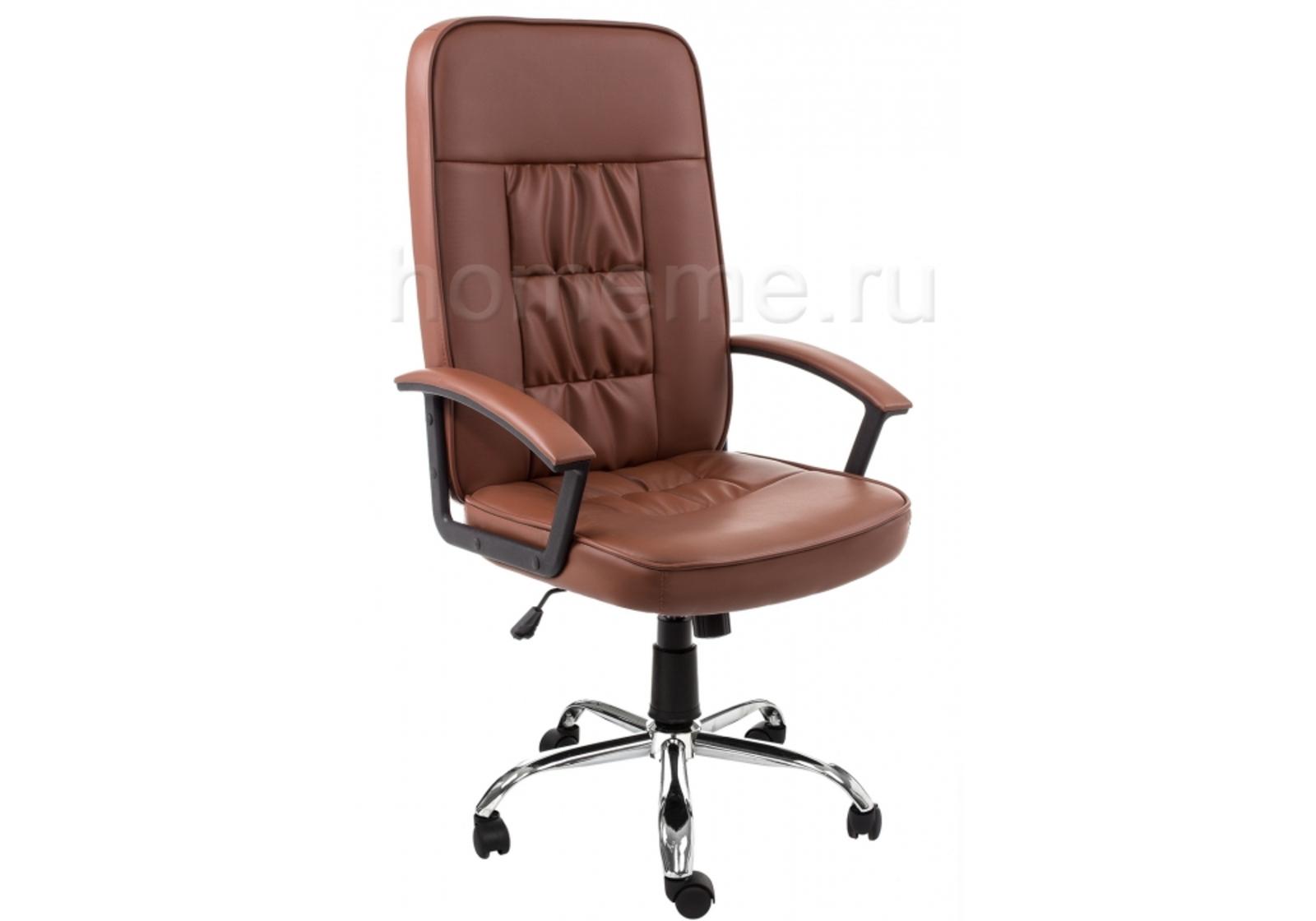 Кресло для офиса HomeMe Bravo коричневое 1893 от Homeme.ru