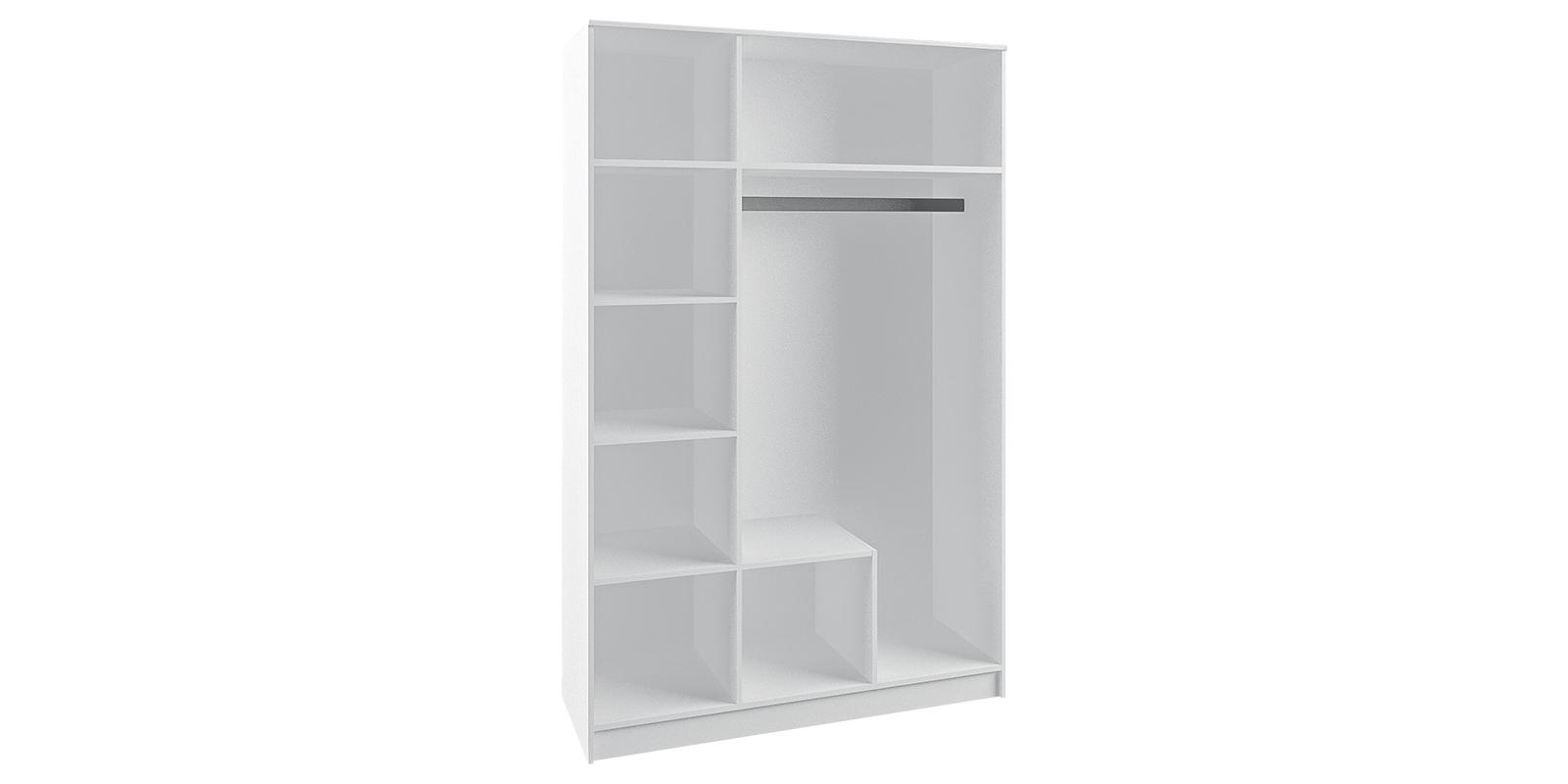 Шкаф распашной трехдверный Диамант вариант №1 (белый) от HomeMe.ru