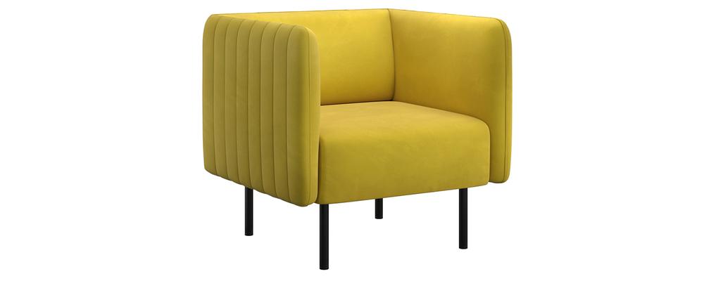 Кресло тканевое Рио Velutto горчичный (Велюр)