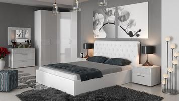 Кровать «Скарлет» с мягким изголовьем и подъемным механизмом