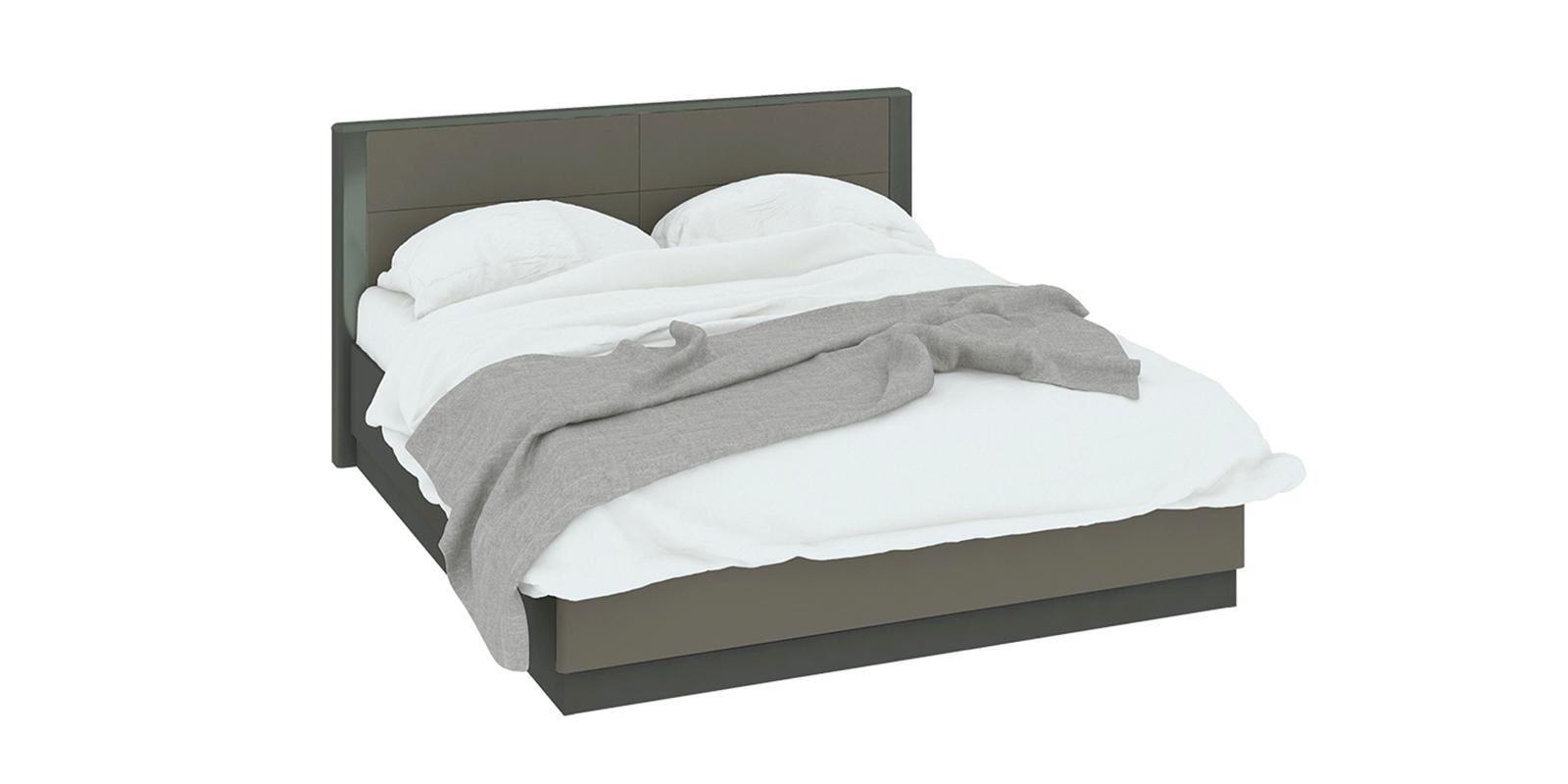 Кровать каркасная 200х160 Сорренто вариант №1 с подъемным механизмом (темно-серый/серый)