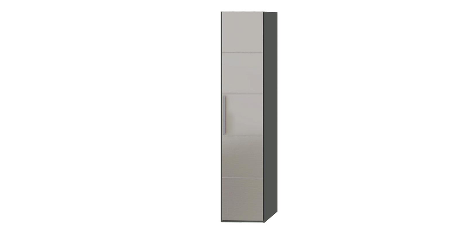 Шкаф распашной однодверный Сорренто торцевой вариант №2 правый (коричневый/зеркало)