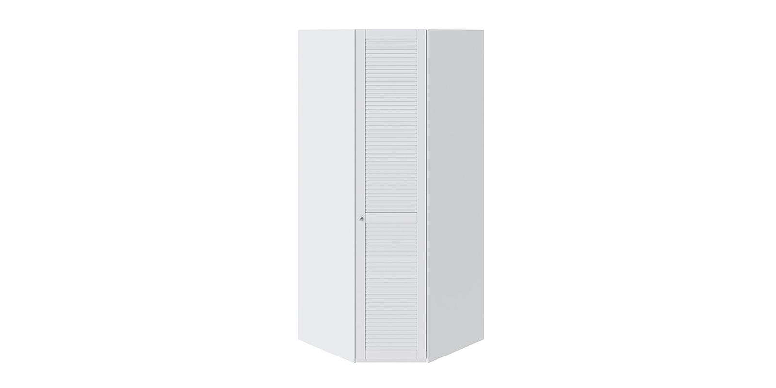 Шкаф распашной угловой Мерида вариант №2 правый (белый)