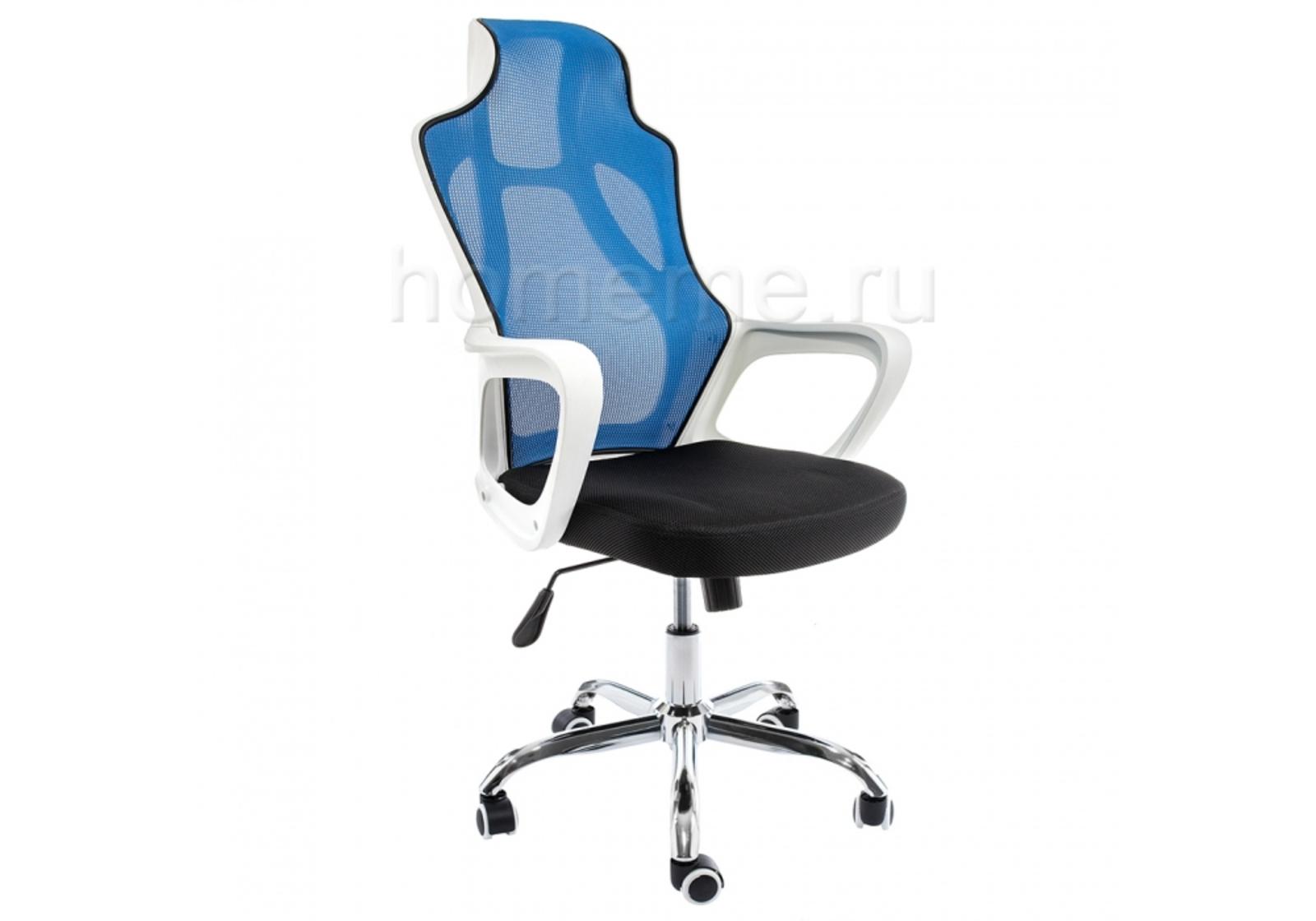 Кресло для офиса HomeMe Local черное / голубое 1978 от Homeme.ru