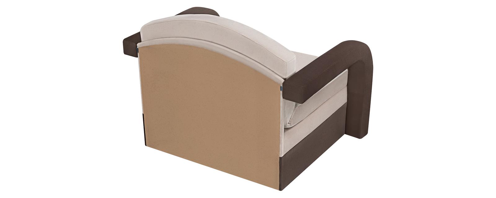 Кресло тканевое Эдем Velure бежевый/коричневый (Велюр)