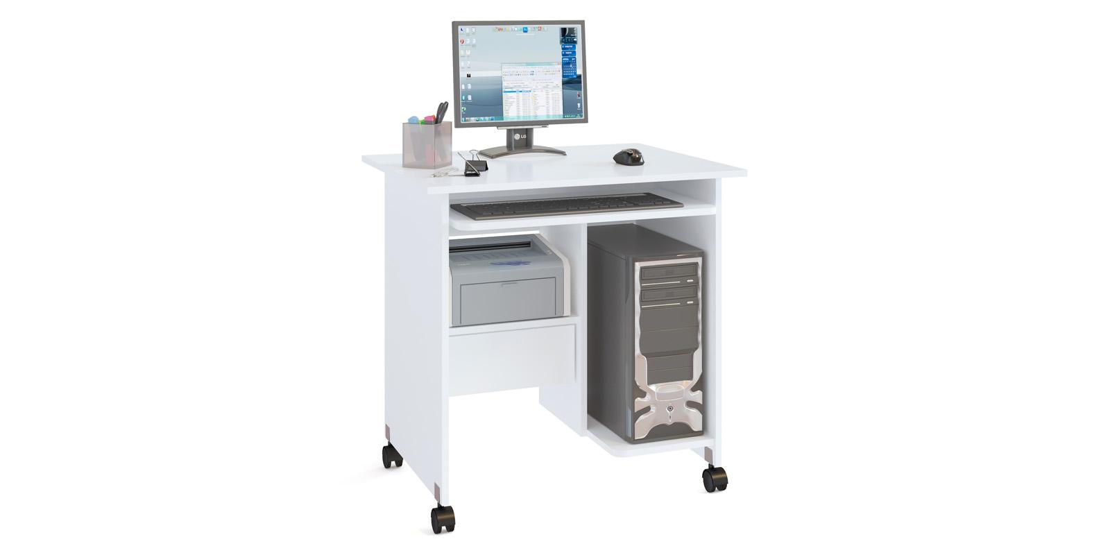 Стол компьютерный Хока (белый)