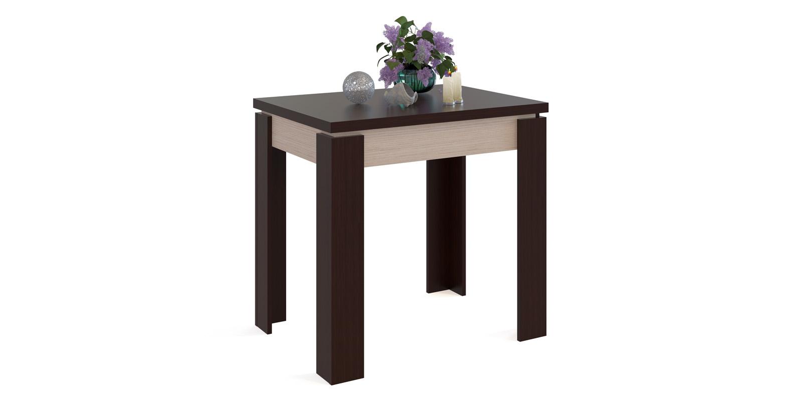 Обеденный стол Лутон вариант №1 (венге/беленый дуб)