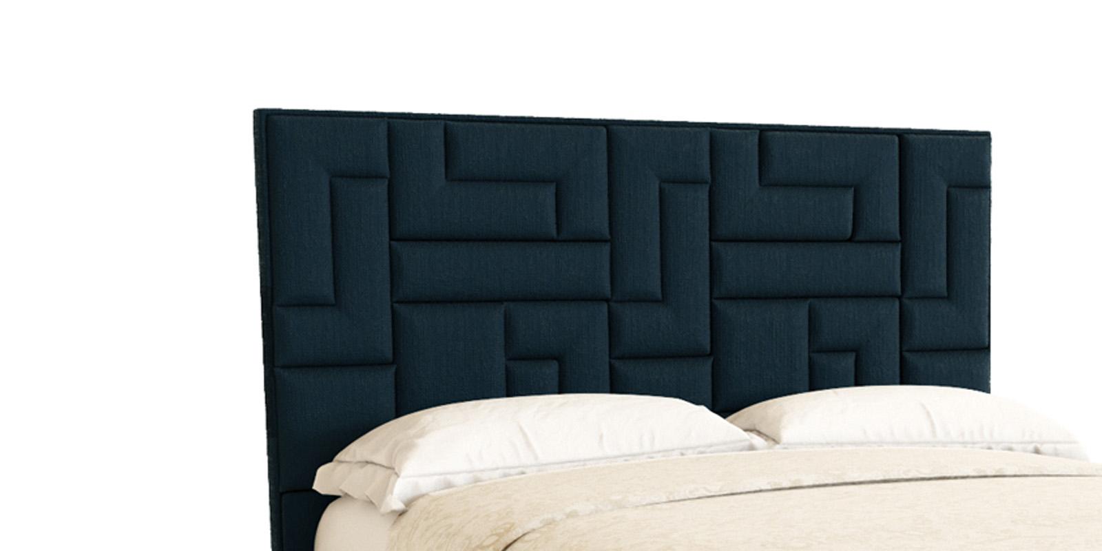 Мягкая кровать 200х140 Логика с подъемным механизмом (темно-синий)
