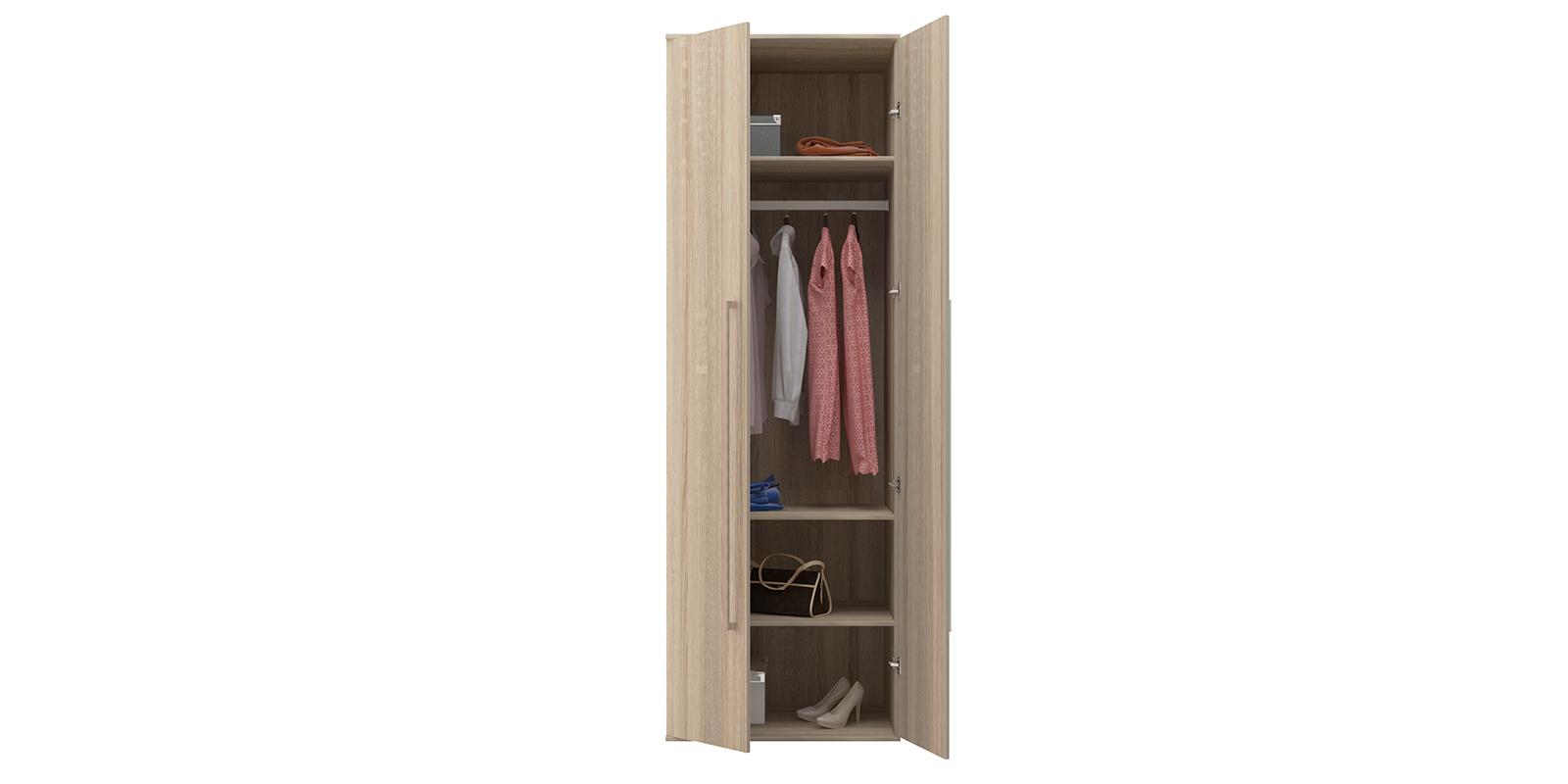 Шкаф распашной двухдверный Бали вариант №1 (дуб сонома) от HomeMe.ru