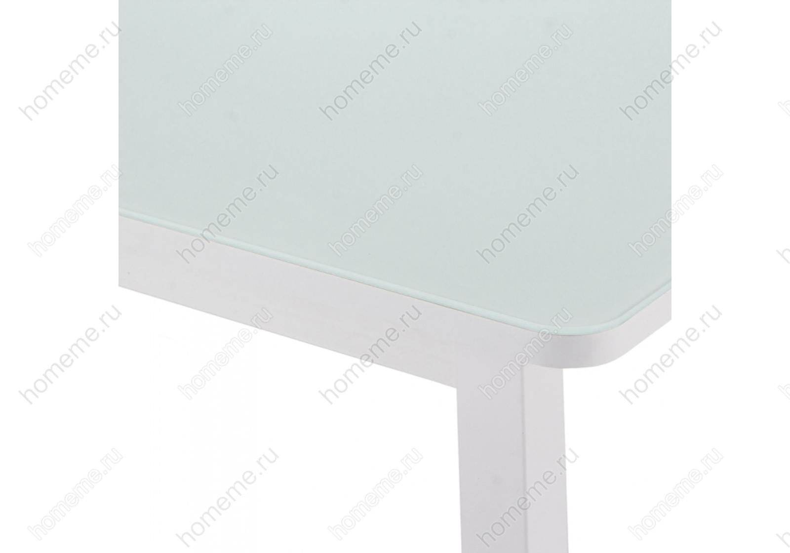 Стол стеклянный со стеклом Ланс 130 белый 302727 со стеклом Ланс 130 белый 302727 (15317)