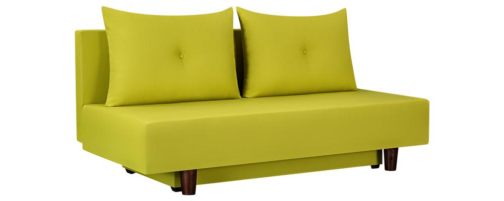 Диван тканевый прямой Парма Neo желто-зеленый (Рогожка)
