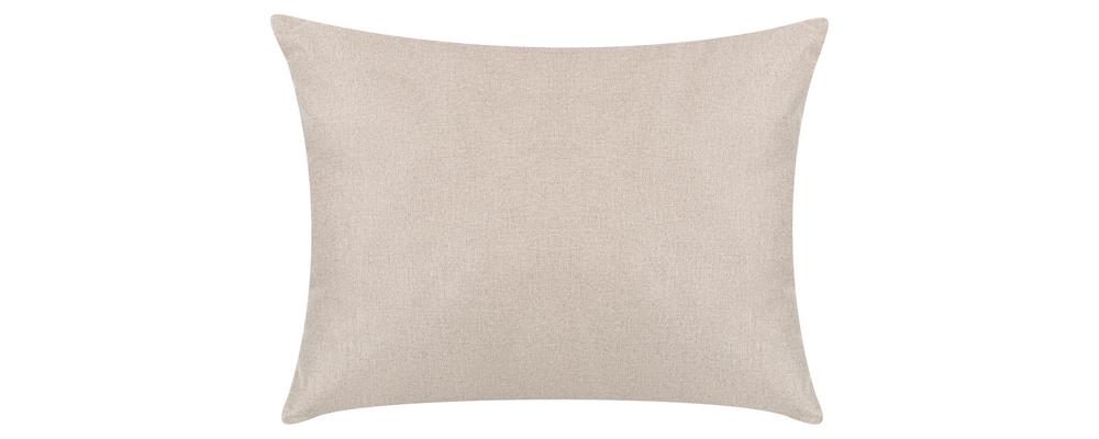 Декоративная подушка Медисон 60х45 см Kiton бежевый (Рогожка)