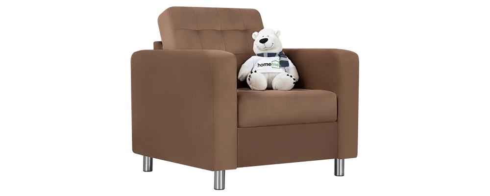 Кресло тканевое Камелот Velure коричневый (Велюр)