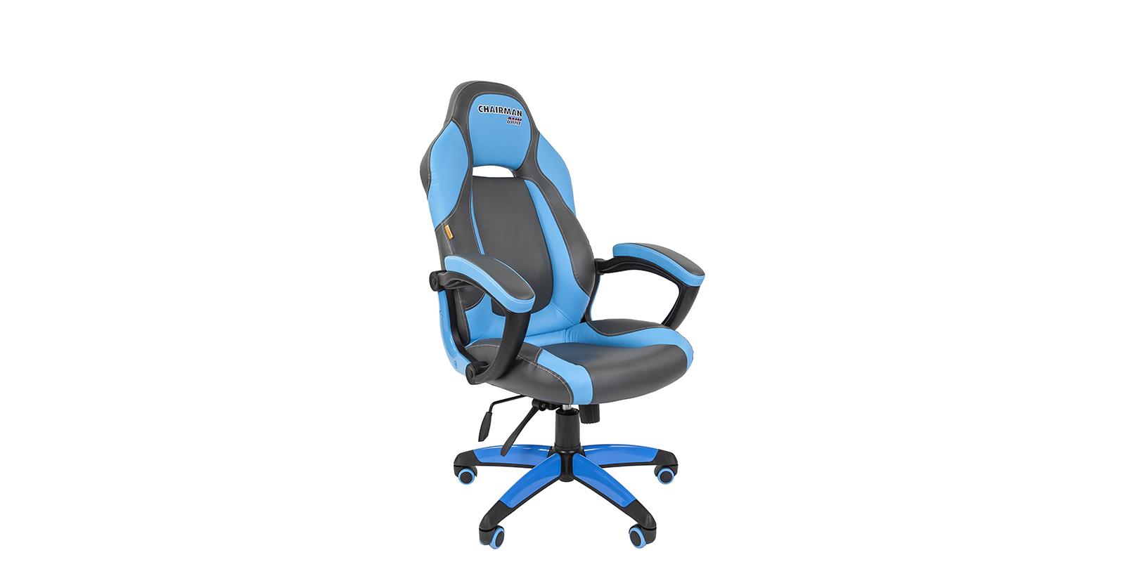 Игровое кресло Chairman game 20 (серый/голубой)