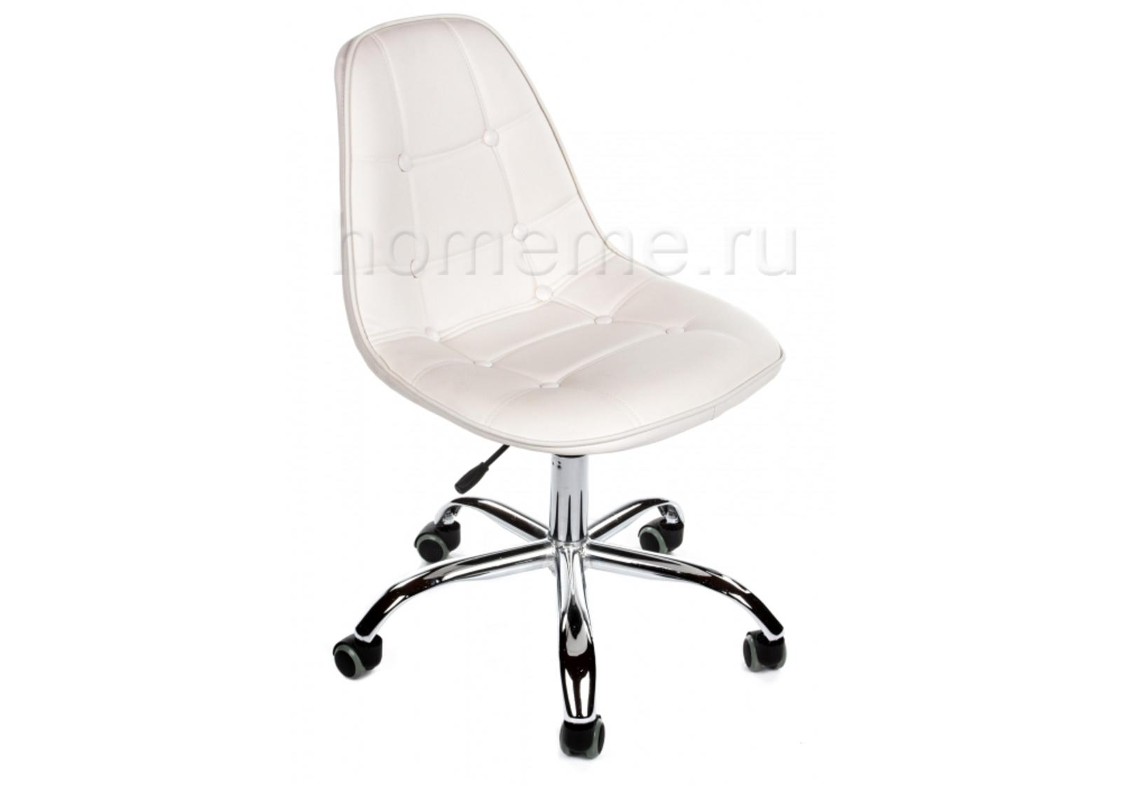 Кресло для офиса HomeMe PC-306 на колесах белый 1356 от Homeme.ru
