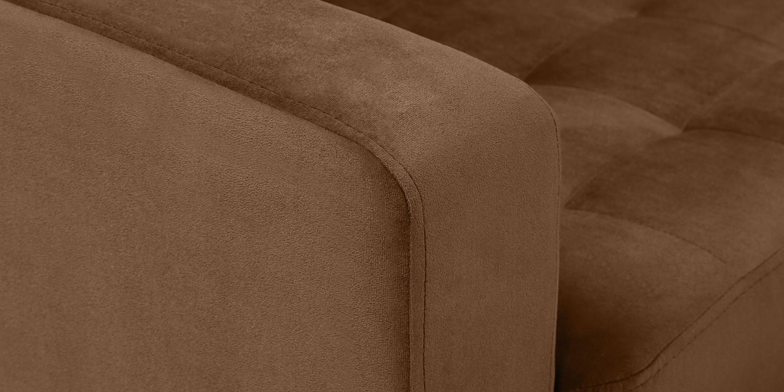 Диван тканевый угловой Камелот Velure коричневый (Велюр)