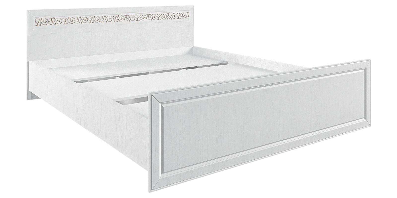 Кровать каркасная 200х160 Диамант без подъемного механизма (белый)