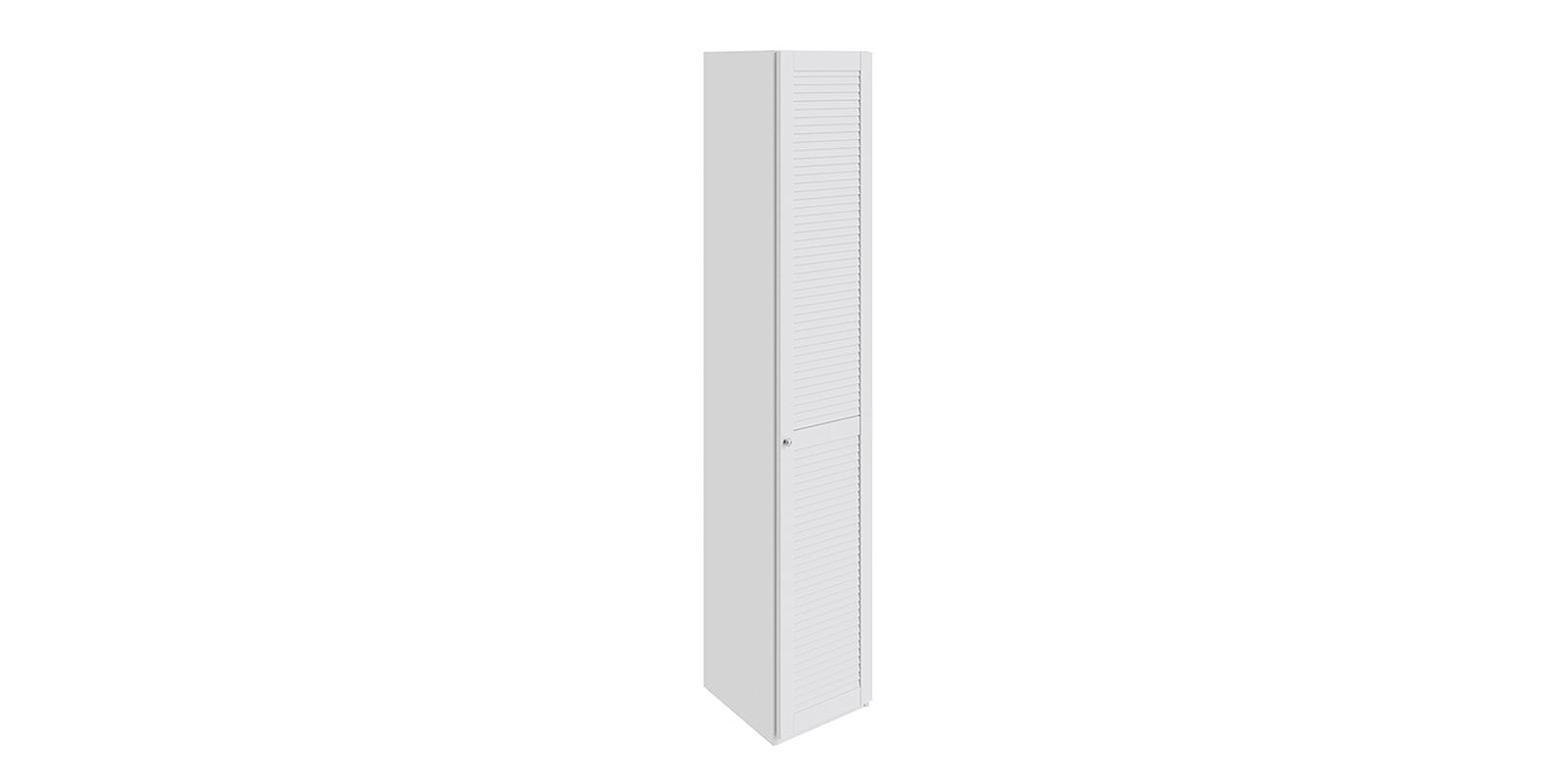 Шкаф распашной однодверный Мерида правый вариант №5 торцевой (белый) Мерида