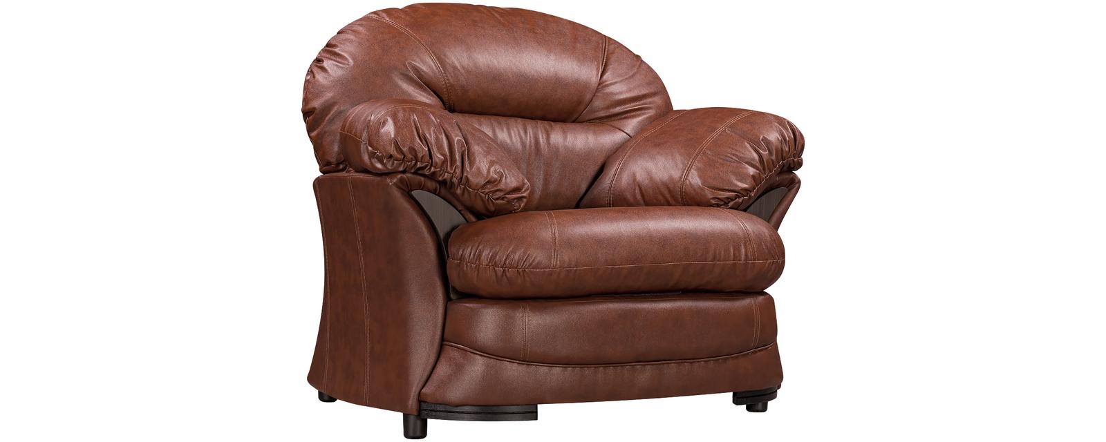 Кресло кожаное Ланкастер Коричневый (Натуральная кожа)
