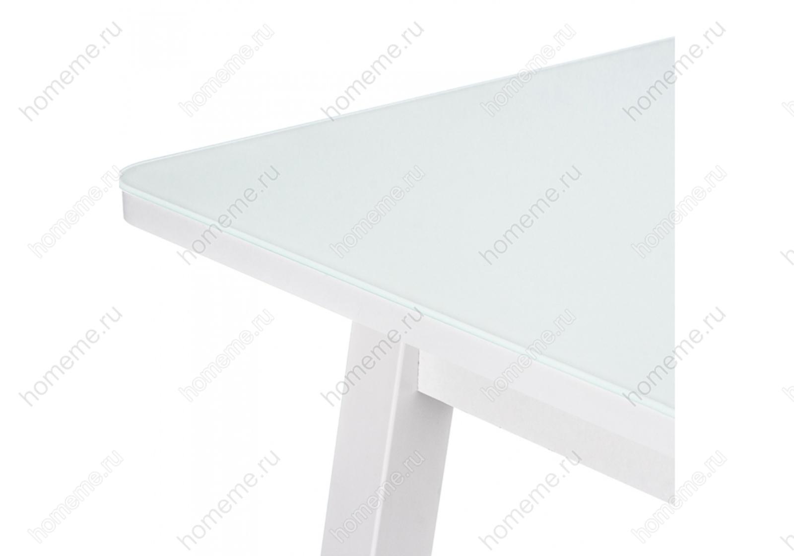 Стол стеклянный со стеклом Ланс 110 белый 302668 со стеклом Ланс 110 белый 302668 (15316)