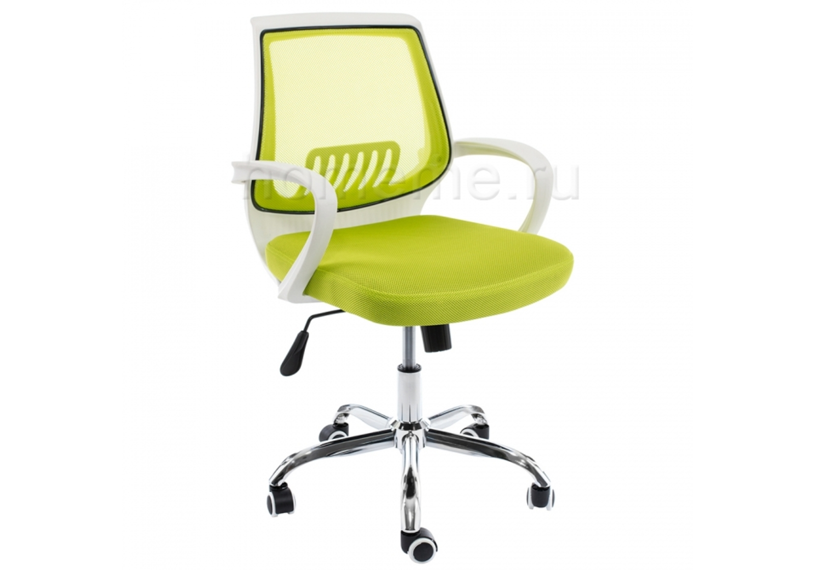 Кресло для офиса HomeMe Ergoplus белое / зеленое 1969 от Homeme.ru