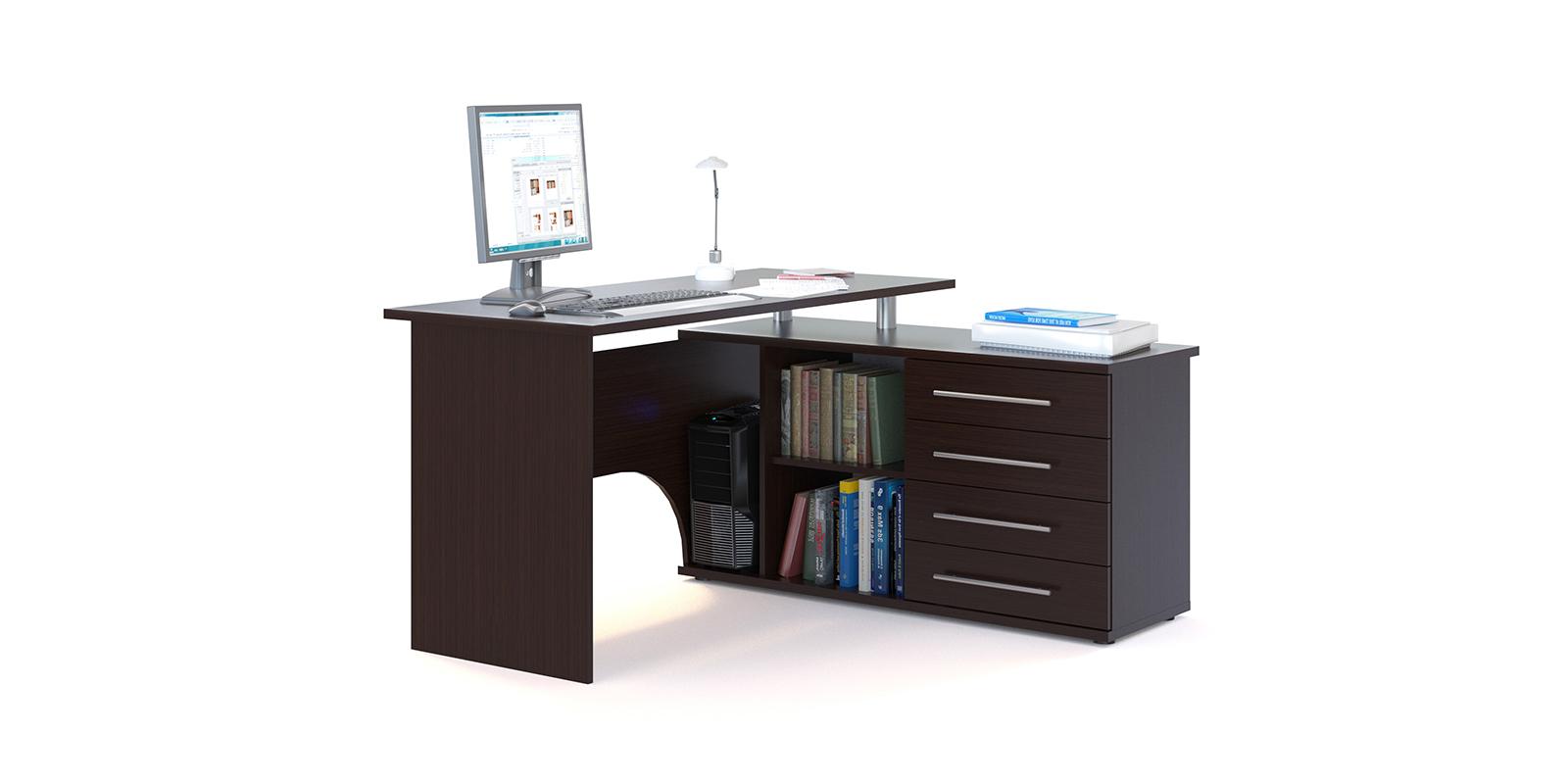 Стол компьютерный Сноу правый угол (венге)