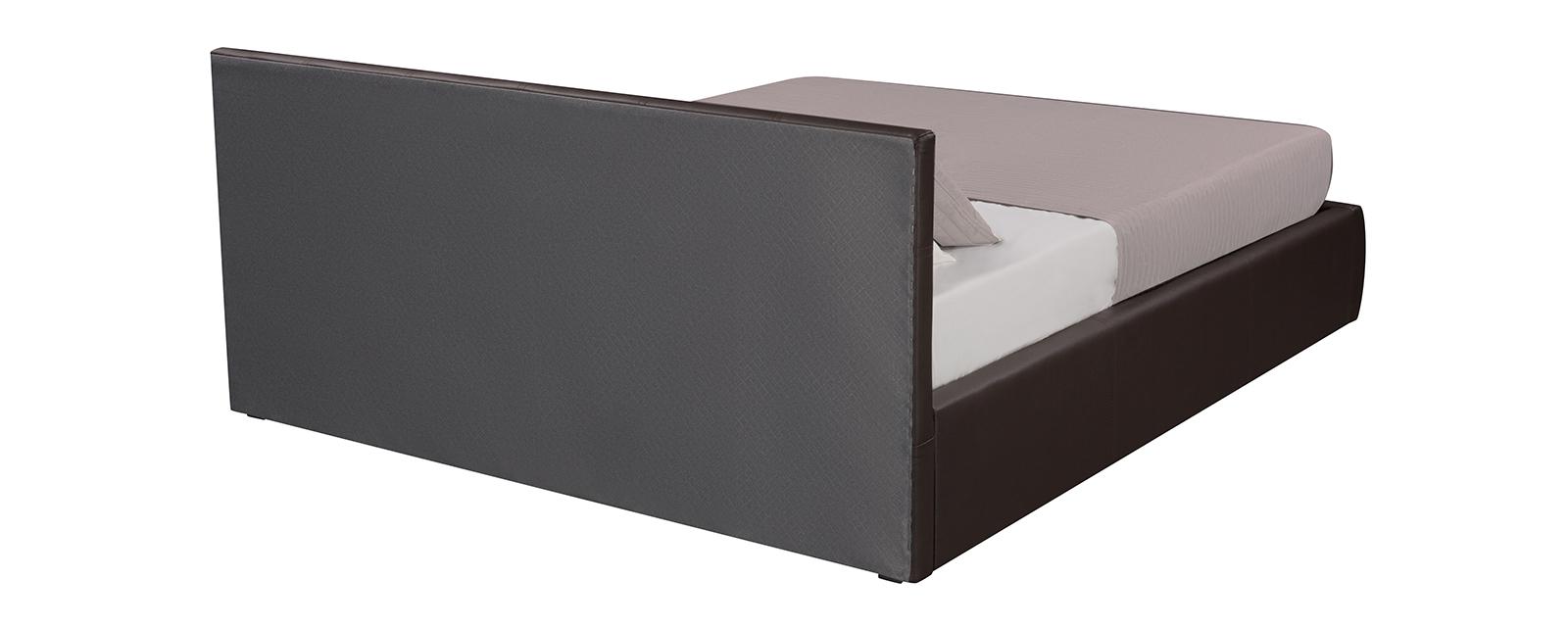 Мягкая кровать 200х160 Афина с подъемным механизмом (Luxe коричневый)