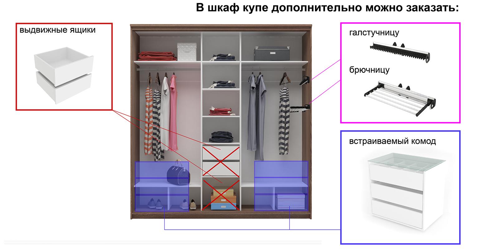 Шкаф-купе трехдверный Верона 223 см (ясень шимо темный/зеркальный) от HomeMe.ru