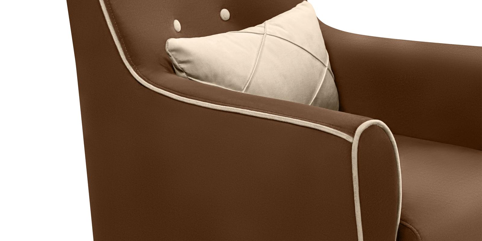 Кресло тканевое Флэтфорд Velure коричневый/бежевый (Велюр)