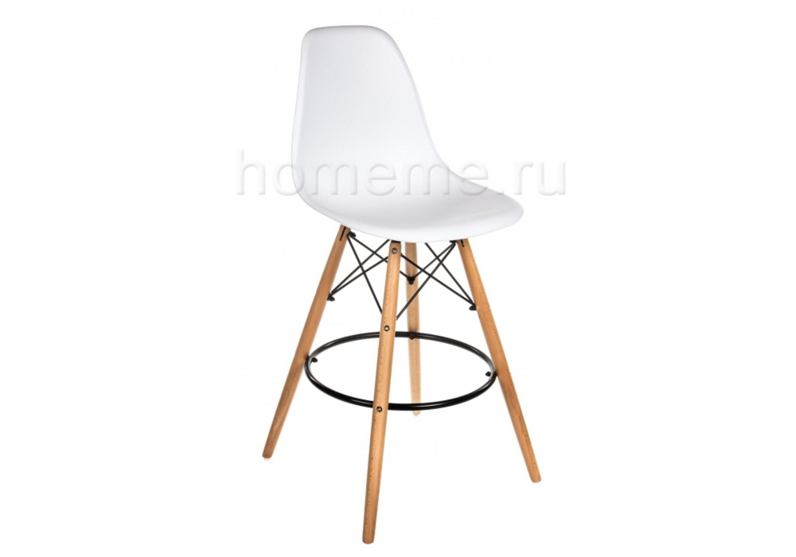 Барный стул Eames PC-007 белый (1354) HomeMe