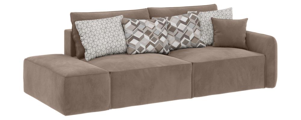 Модульный диван Портленд вариант №2 Premier тёмно-бежевый (Микровелюр)