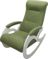 Кресло качалка Венера/Эмаль белая/Зеленый БИНГО 7