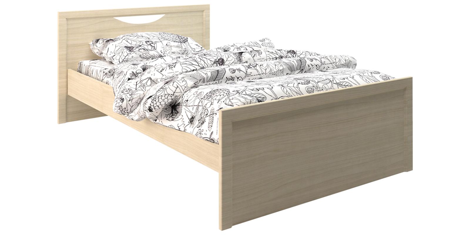 Кровать односпальная Дениз без подъемного механизма (Дуб молочный)