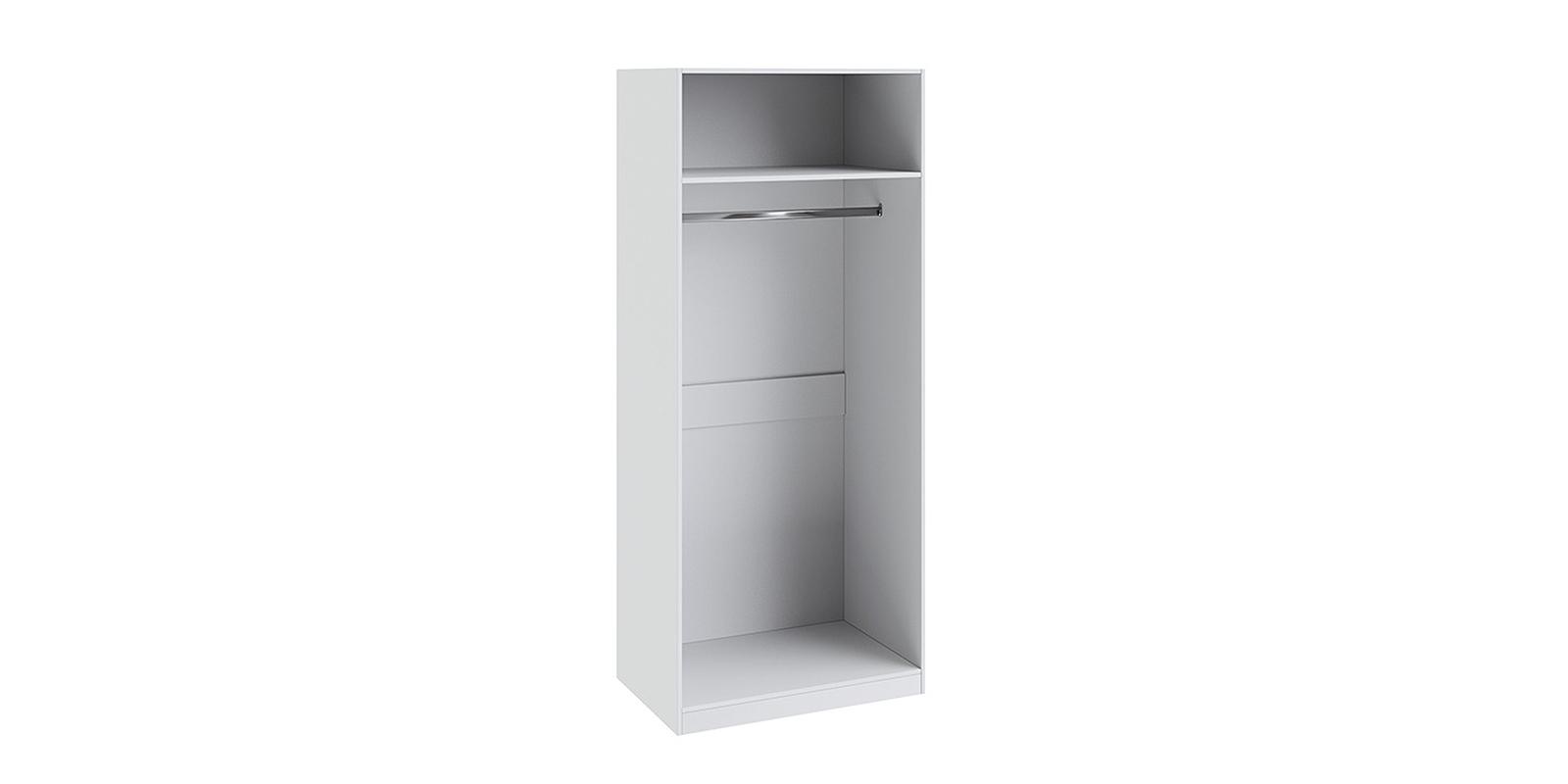 Шкаф распашной двухдверный Мерида вариант №3 (белый/зеркало)