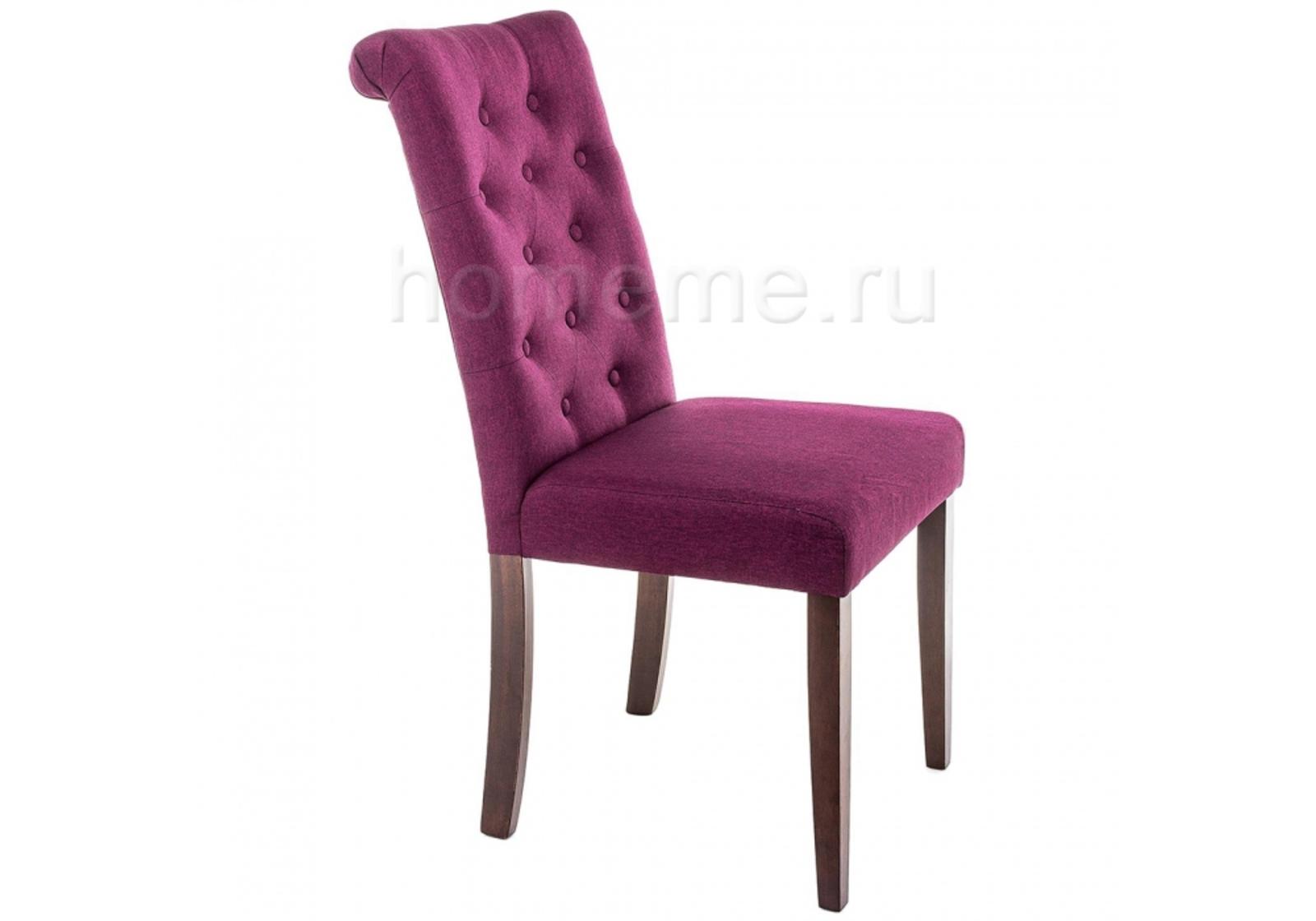 Стул HomeMe Amelia dark walnut / fabric purple 11020 от Homeme.ru