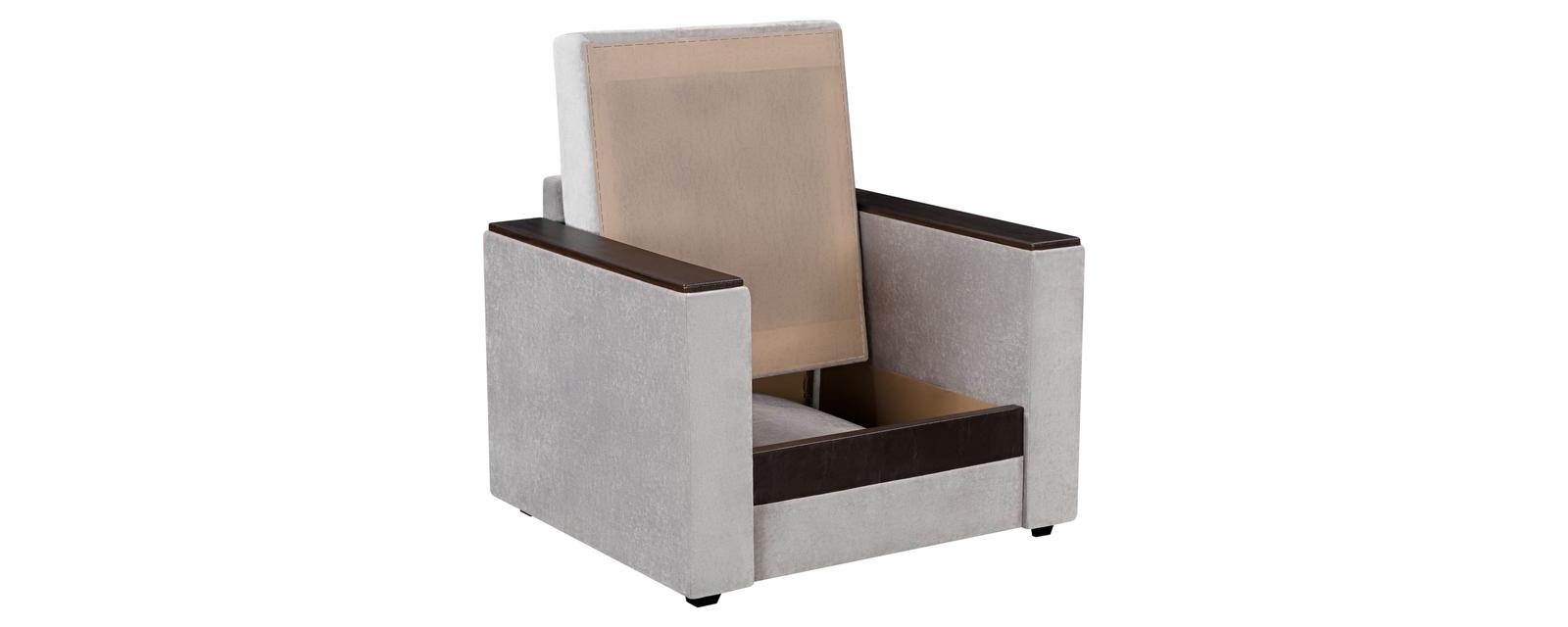 Кресло тканевое Атланта Dana светло-серый (Вельвет)