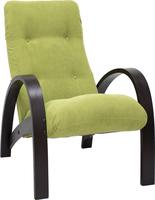 Кресло для отдыха Модель S7 Венге/шпон, ткань Verona Apple Green