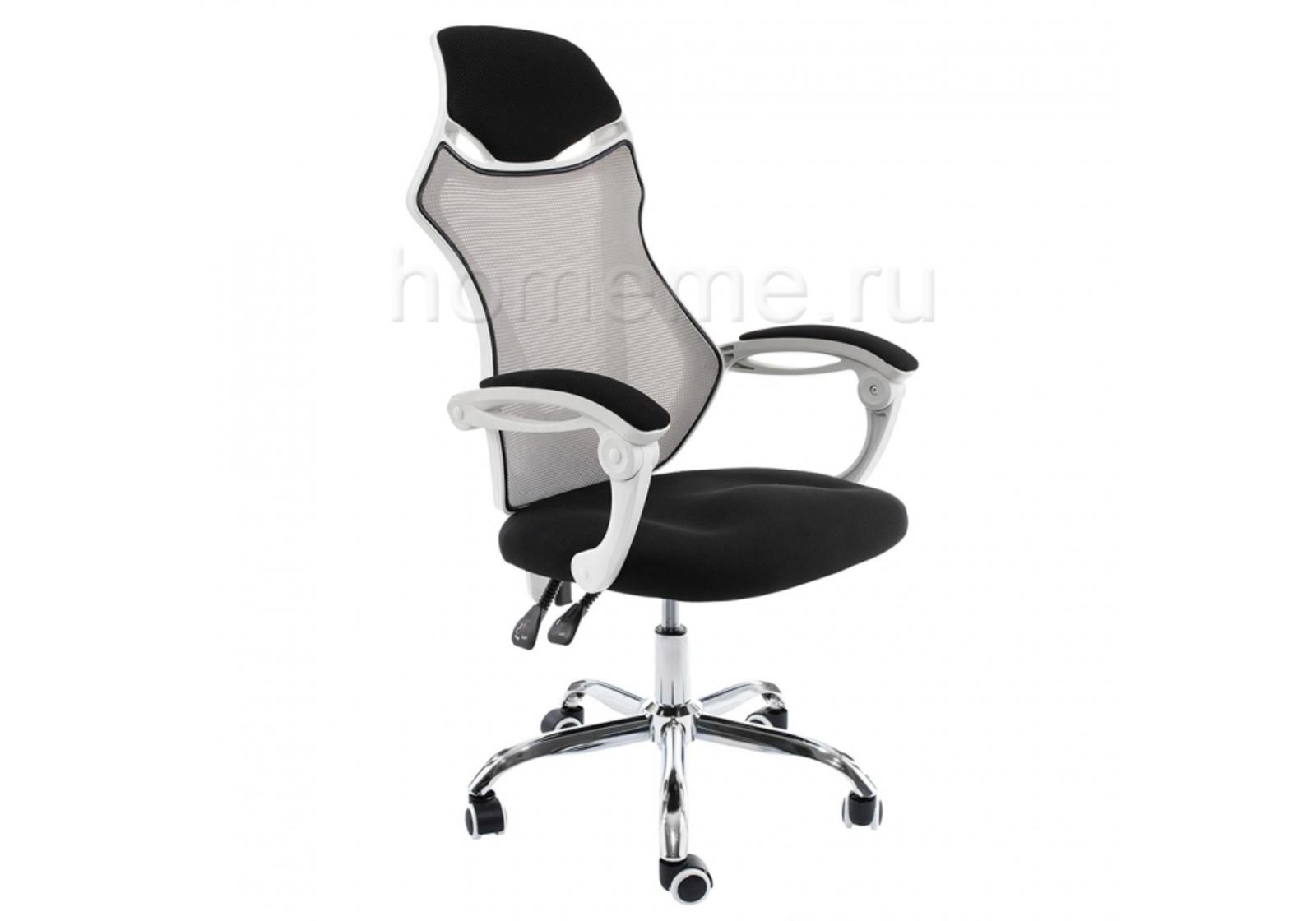 Кресло для офиса HomeMe Armor белое / черное / серое 1980 от Homeme.ru