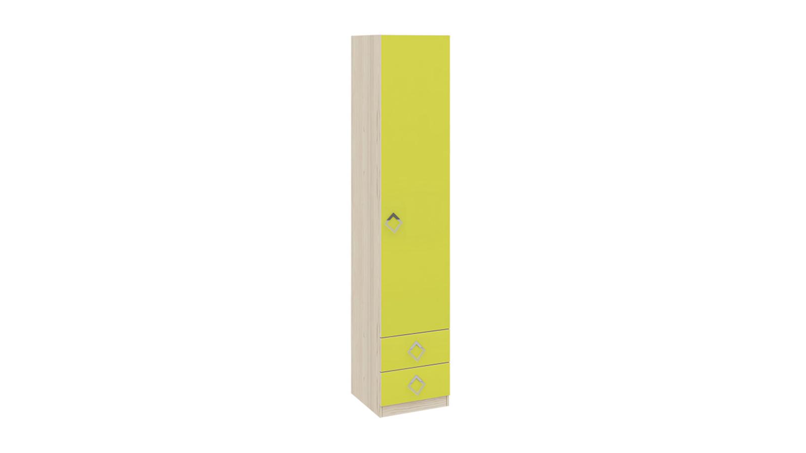 Шкаф распашной однодверный Салоу вариант №2 (каттхилт/лайм)