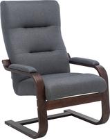 Кресло Leset Оскар Орех текстура, ткань Малмо 95